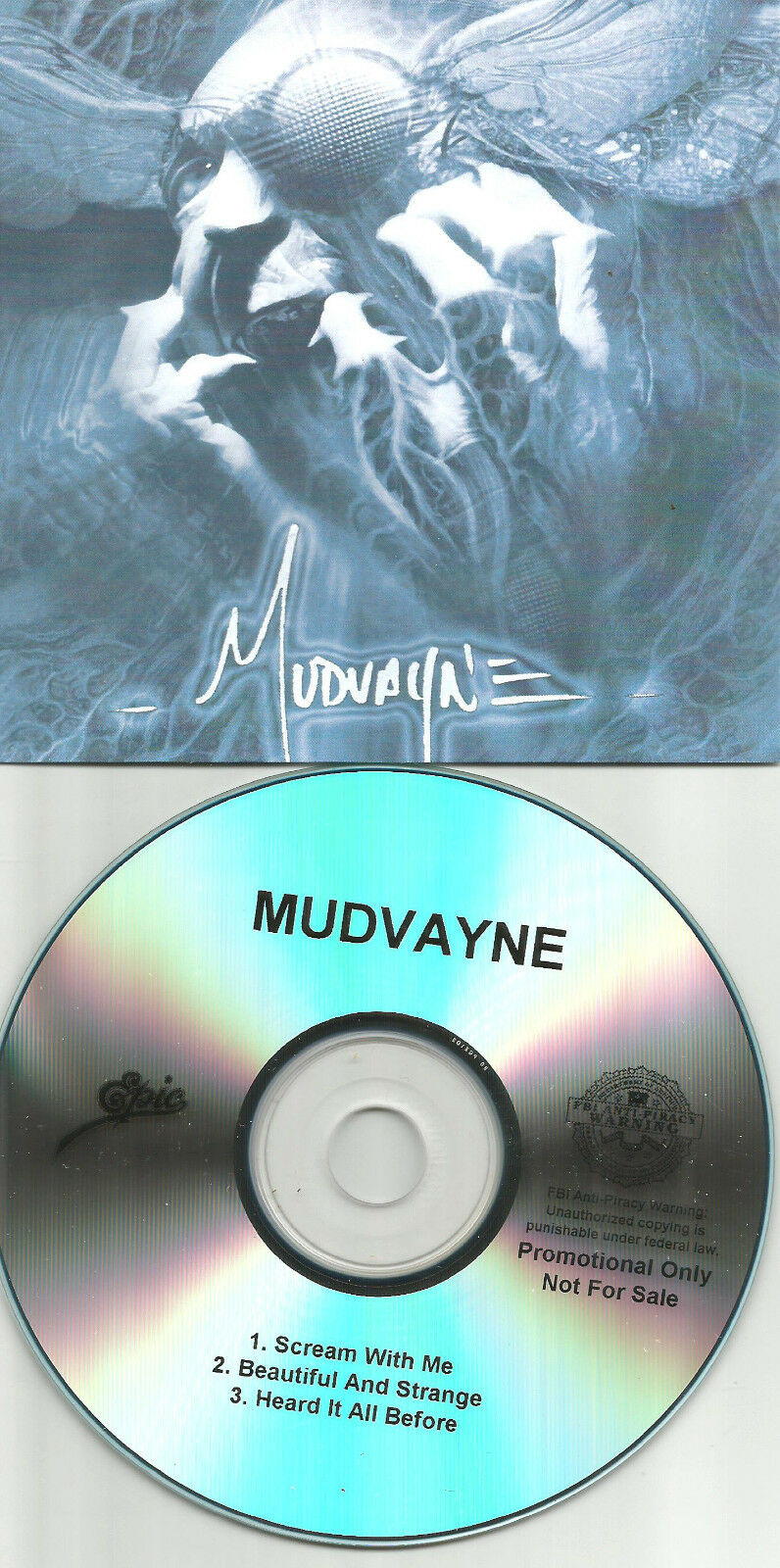 MUDVAYNE Ultra Rare 2009 TST PRESS 3 TRK Sampler PROMO DJ CD single USA MINT
