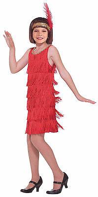 Charleston Girl Halloween Costume (ROARING 20's RED FLAPPER GIRL'S HALLOWEEN COSTUME SMALL 4-6 CHARLESTON)
