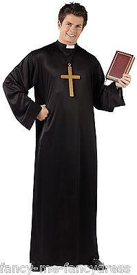Herren Priester Pfarrer Religiös Junggesellenabschied Fest Kostüm Kleid - Priester Jungen Kostüm