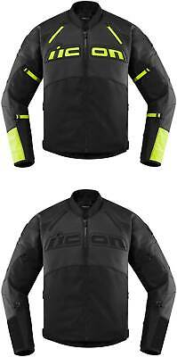 Icon Contra 2 Leather Jacket - Motorcyle Street Bike Riding Leather Textile Mens