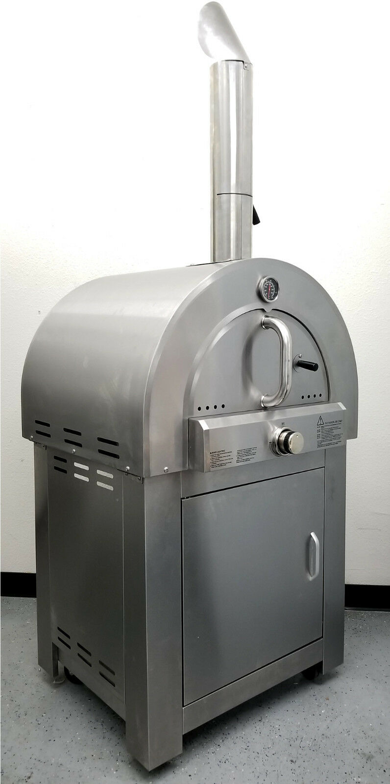 New Stainless Steel Outdoor LPG Propane Gas Pizza Oven Range