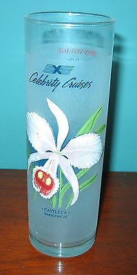 Celebrity Cruise Line Frosted Orchid Glass From 2002  Cattleya Warscewiczii