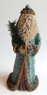 "Enesco Linda Baldwin From a Nickle Besnickle Glittered Santa Claus Figurine 8"""