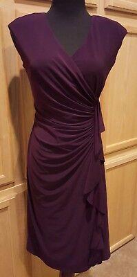 American Living/Ralph Lauren 270568390013 Eggplant Ruffle Stretch Jersey Dress