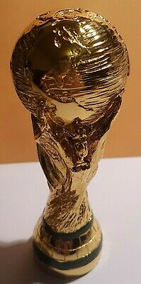 """Mini FIFA World Cup Soccer Football Gold Color Trophy 5.1"""" - 13 cm Tall - New"""