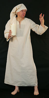 Victorian-Wee Willie Winkie SCROOGE NIGHTSHIRT & CAP Fancy Dress -ADULT - Winkie Kostüm
