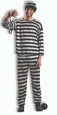 Jailbird Costume (Adult Prisoner Convict Jailbird Costume)