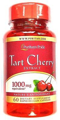 1000Mg Tart Cherry 60 Capsule 250Mg 4 1 Extract Antioxidant Gout Arthritis Pill