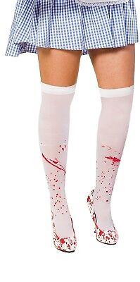 Nylons Strümpfe Bloody Overknees Blut Blutspritzer 34 36 38 (Halloween Nylons)