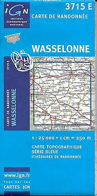 Map of Wasselonne, France, by IGN Map #3715 E