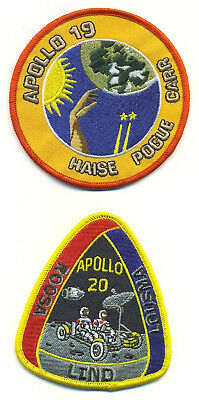 Apollo 19/20 Canceled Flight Patch Set -  NASA19-20-set