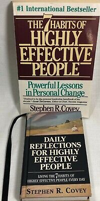 2 Stephen R. Covey Books Daily Reflections 7 Habits of Highly Effective People