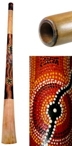 Handmade Didgeridoo Teak 59 inch painted, repaired, 45% off