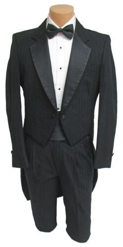 Boys Size 8 Black Raffinati Tuxedo Tailcoat with Pants Formal Wedding Ringbearer