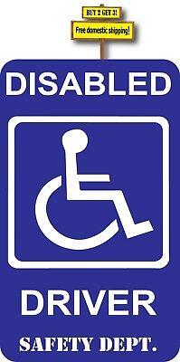 Handicap Symbol Disabled Driver Wheelchair Safety Decal Sticker #481