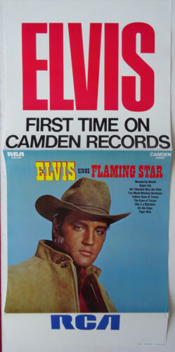 Elvis Presley Record Store Ad Poster 1969 - Elvis Sings Flaming Star On Camden