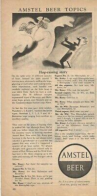 AMSTEL BEER - N.5 in a series of advertisements - 1954 Vintage Print Ad