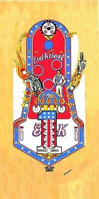 Evel Knievel Pinball Playfield Overlay