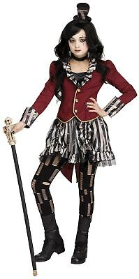 Freak Show Ringmistress Girl's Child Costume Dark Circus Jacket Dress Hat - Ring Mistress Jacket