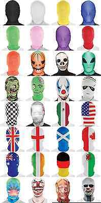 ADULT MORPH MASK OFFICAL MORPHMASK MORPHMASKS MORPHSUIT FULL FACE MASK  - Morphsuit Mask