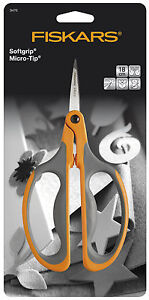 Fiskars-18cm-Micro-Tip-Big-Loop-Handle-Stem-Trim-Scissors-F9476