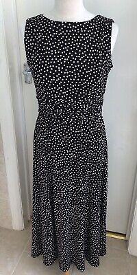Jessica Howard BNWT Brown / White Polka Dot Summer Maxi Dress 10