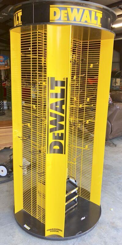 Commercial DEWALT Dewalt Spinning Display Rack Hook Tool Holder Hardware Store