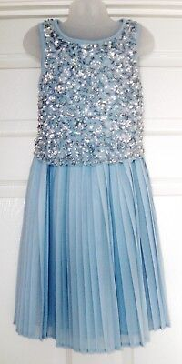 GIRLS NEXT BEADED PROM PARTY DRESS 9 YRS 8-9 WEDDING BRIDESMAID SUMMER HOLIDAY  - Next Communion Dresses