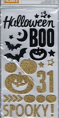 Thickers~SPOOKY Glitter Stickers~Halloween~BNIP~Quick Ship!! Really Cute! - Quick Halloween Crafts