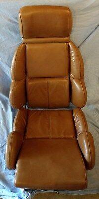 corvette leather seat covers - 1989-1990 - cognac - NOS top/bottom