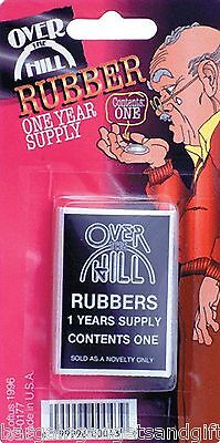 OVER THE HILL CONDOM NOVELTY OLD MENS FUNNY JOKE DADS FATHERS BIRTHDAY PRESENT