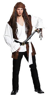IAL Herren Fasching Halloween Kostüm Pirat Seeräuber Freibeuter (Halloween Räuber Kostüm)