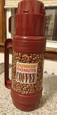 Vintage Dunkin Donuts Coffee Bean Cup Mug Travel Thermos 1 Liter Model 3210