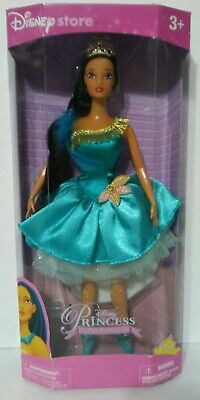 Disney Princess Barbie Dolls (Disney Store Pocahontas Ballerina Princess Barbie Doll w/Stand Native)