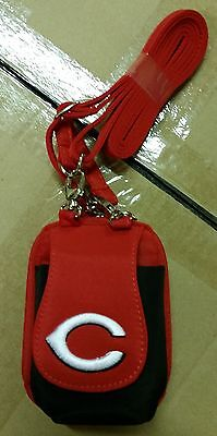 Cincinnati Reds MLB Purse Plus Touch Phone  ID Wallet Charm 14 Gift Bag