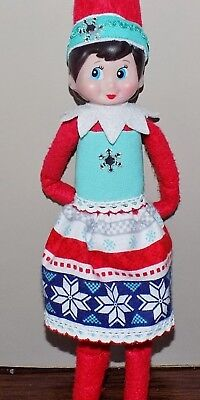 CHRISTMAS SNOWFLAKE TOP SKIRT HATBAND CLOTHES ACCESSORIES ELF ON THE SHELF PROPS