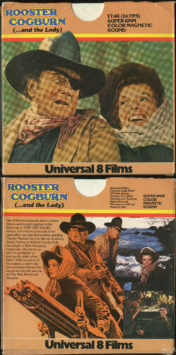 """SUPER 8 SOUND/COLOR-""""ROOSTER COGBURN AND THE LADY""""-UNIVERSAL 8 400"""