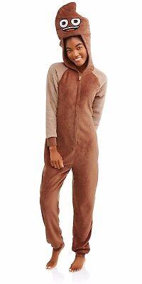 Neuer Frauen Emoji Einteiler Schlafanzug Kostüm Union Anzug Xs S M L XL 2XL - Einteiler Schlafanzug Kostüm