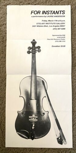 Laurie Anderson RARE performance POSTER 1978
