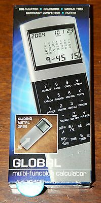 Global Multi Function Calculator Calendar World Time Currency Converter Alarm