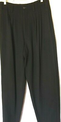 NWT Yohji Yamamoto Black Wool Pleated Mens Pants SZ L Vintage