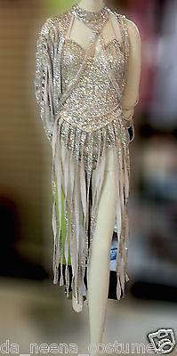 DaNeeNa M557C Vegas Burlesque Sequin Cher Leotard Bodysuit Dress XS-XL