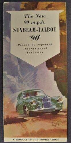 1954 Sunbeam Talbot 90 Brochure Folder Saloon Convertible Coupe Nice Original 54
