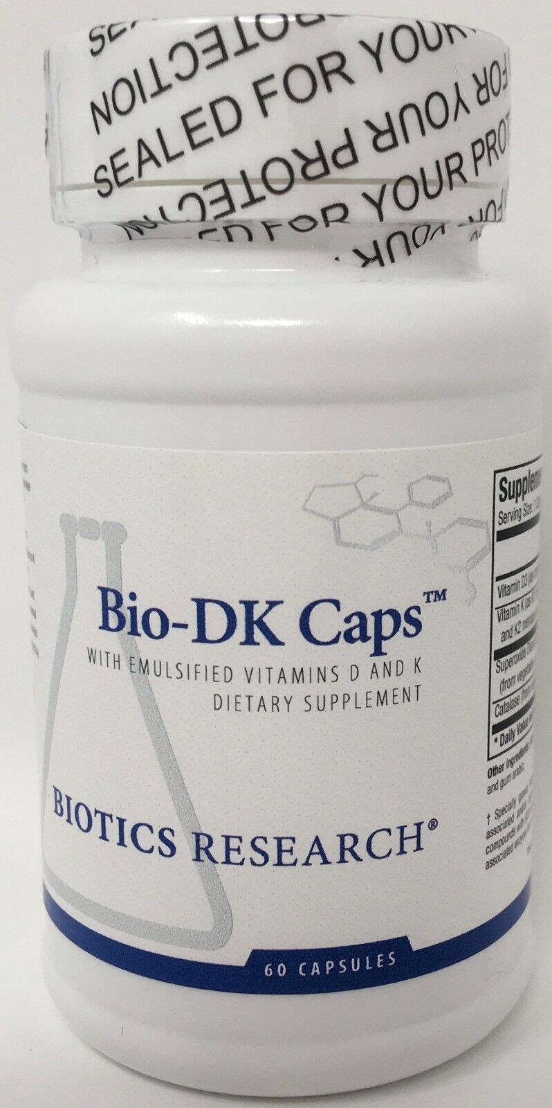 Biotics Research - Bio-DK Caps 60c (BioDK) Emulsified Vitamin D 5,000 IU + K1 K2