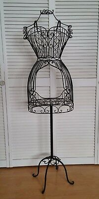 New Vintage Style Black Metal Mannequin Dress Formdisplay Rack With Garment Bag