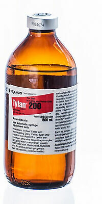 Tylan 200 500ml Antibiotic For Beef Cattle Dairy Cattle Swine Elanco
