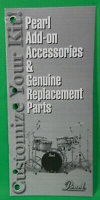 Pearl Drum Parts and Custom Accessories Mini Catalog Vintage 2000 16 Pages