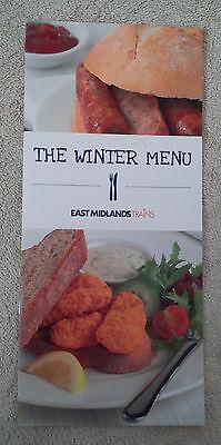 EAST MIDLANDS TRAINS WINTER MENU Dining Buffet Car Carriage BR British Railways