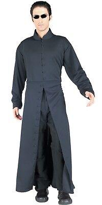 Matrix Neo Adult Mens Costume Long Black Over Coat Goth Halloween