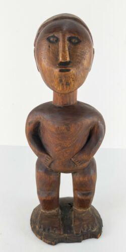 Antique Vintage Carved African Tribal Ethnographic Wood Figure Fang Figure Gabon
